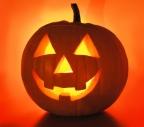 Halloween : citrouille et bougies
