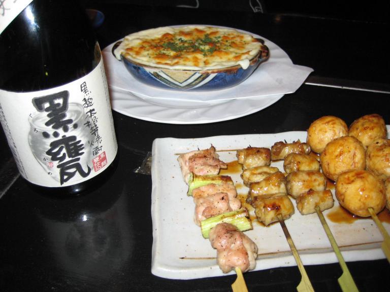 Yakitori et bière