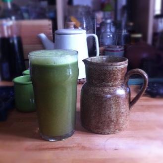 Jus de fruits et légumes verts bio