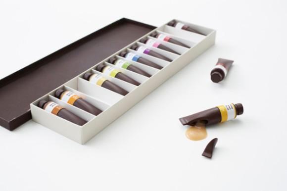 Tubes de chocolat