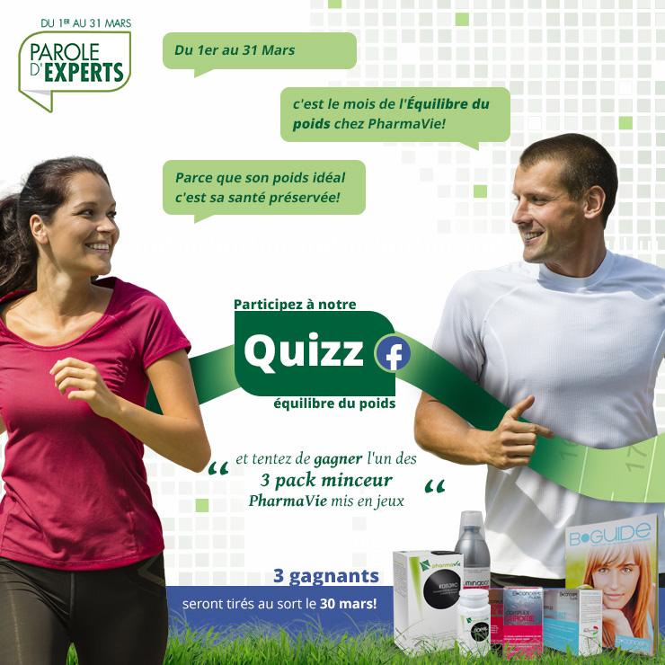 """""""Quizz Equilibre du poids"""" par Pharmavie.fr"""