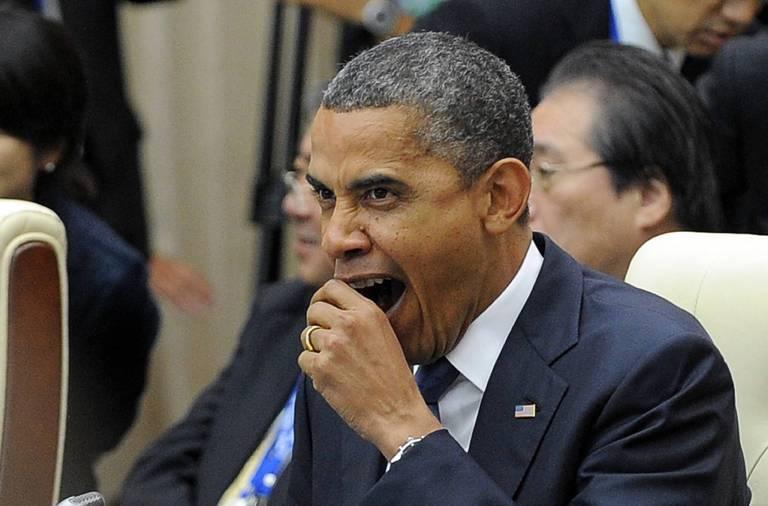 Barack Obama bâille en public