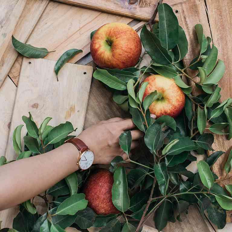 Résidus de pesticides à la surface des pommes