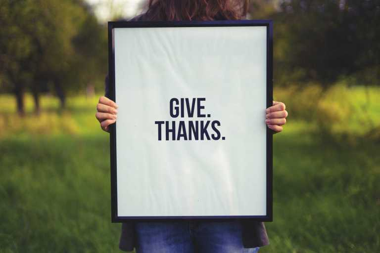 expression of gratitude is a good thing for our minds and bodies