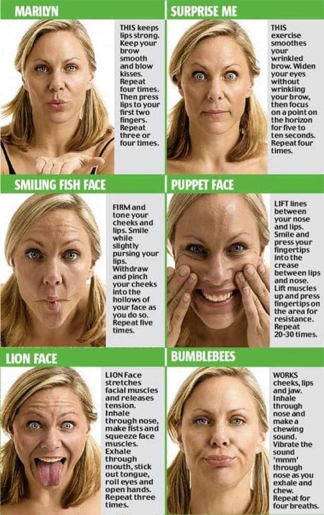 Yoga facial pour raffermir la peau