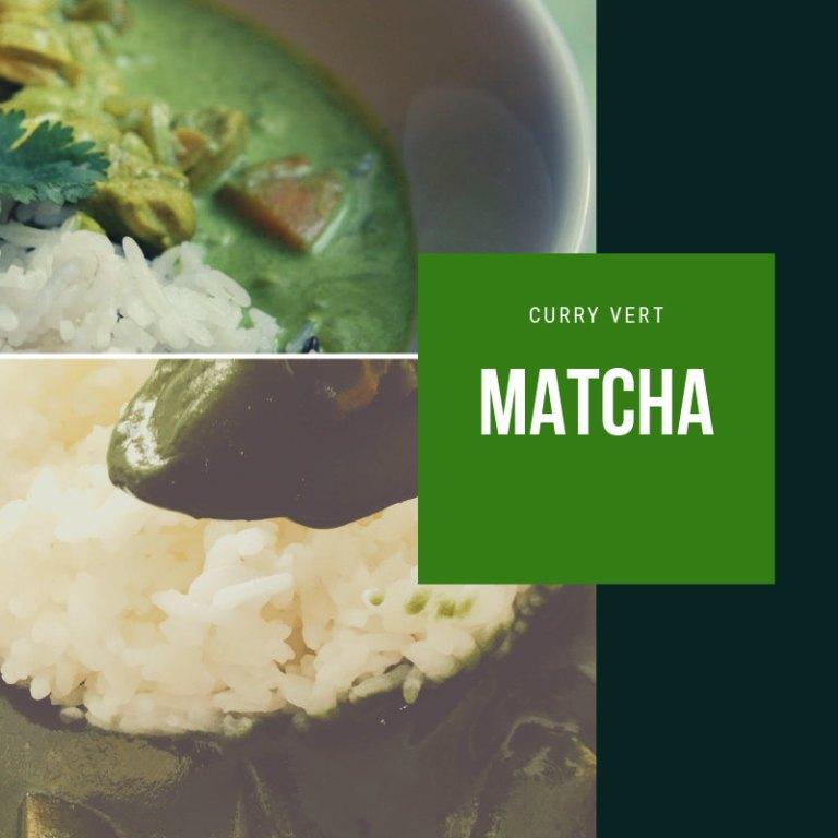 Matcha et curry vert