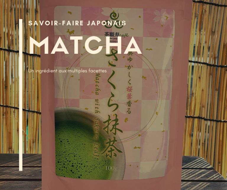 Matcha aux feuilles de sakura du Japon