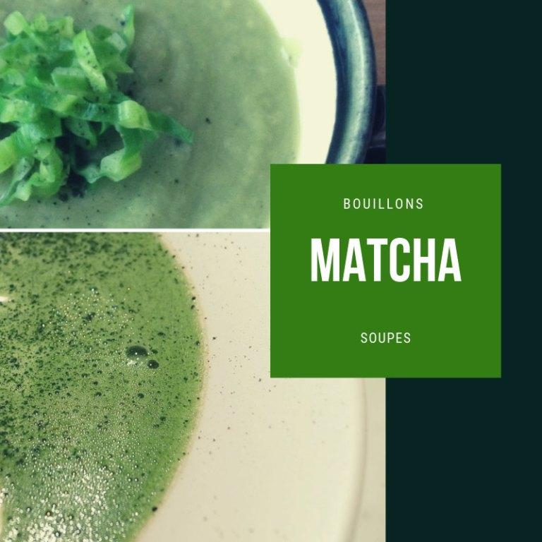 Soupe et bouillon au matcha