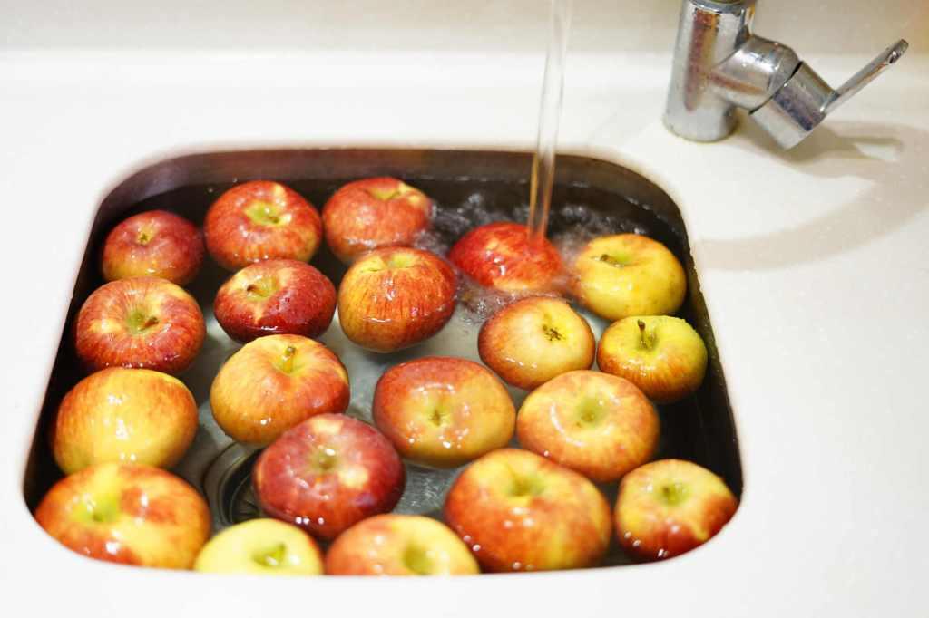 Comment nettoyer des pommes ?